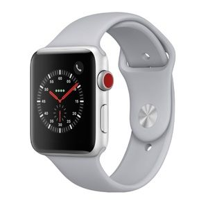 NEW Fog Gray Silicone Sport Band For Apple Watch